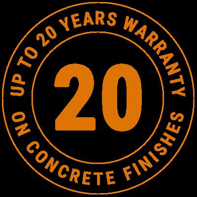 20 years guarrantee badge